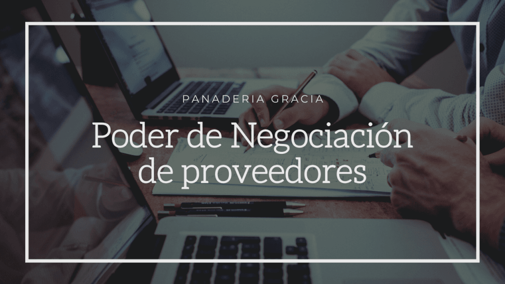 poder de negociación de proveedores